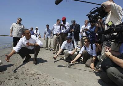 Obama a helyszínen