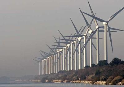 szélturbinák Marseille mellett