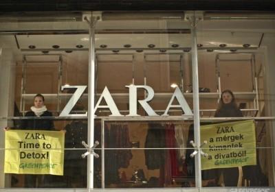 Zara 'Detox' Action in Budapest