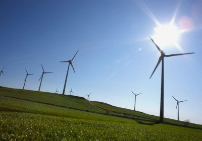 Wind farm and agricultural field