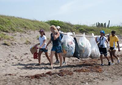 International Coastal Cleanup 2011 in Jamaica.