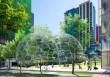 Üvegház és az irodaházak