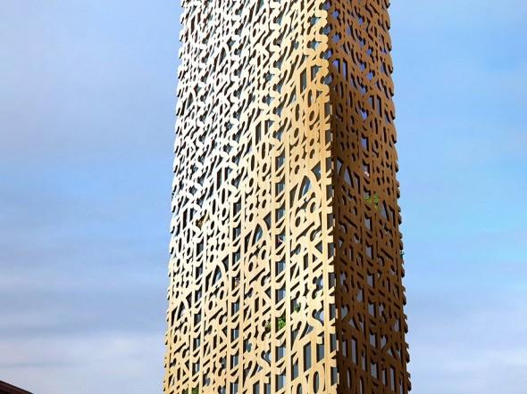 Svédország legmagasabb felhőkarcolója, amely csak fából fog épülni