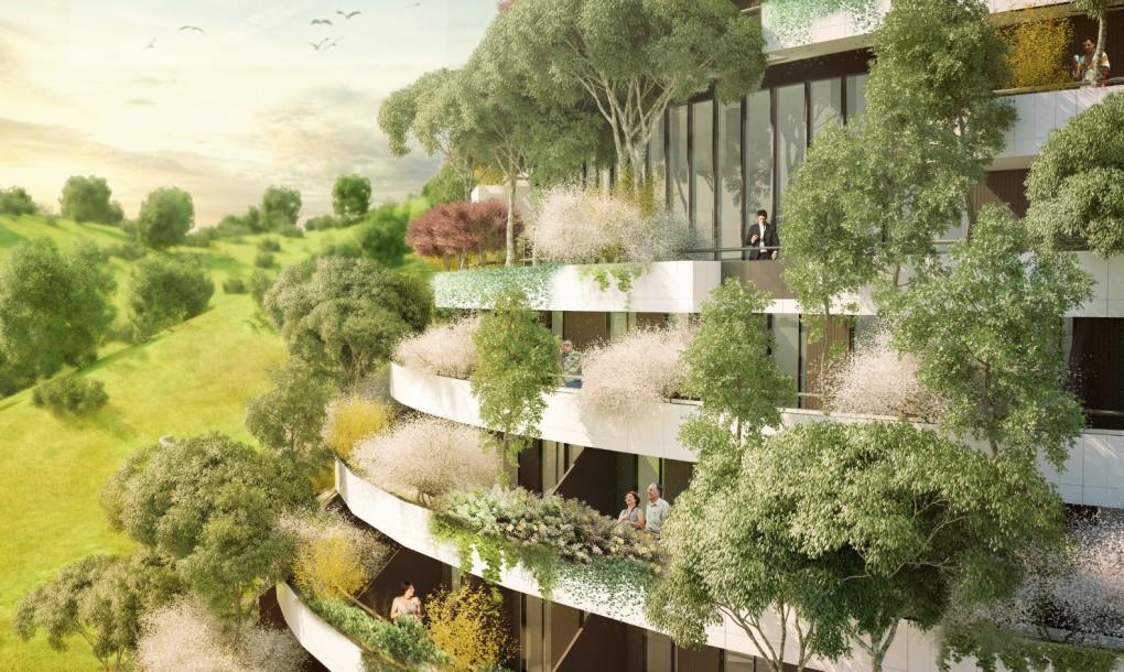 Újabb növénnyel borított épület