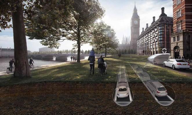 Föld alá kerülnének az autók a városokban?