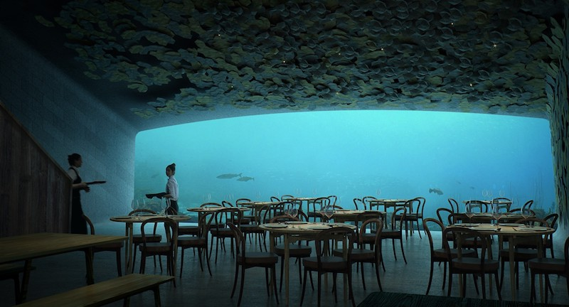 Víz alatti étterem épül Norvégiában