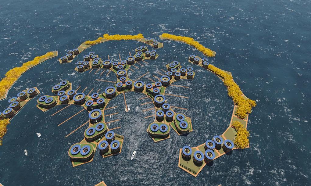 2020-ig megépül az első úszó város