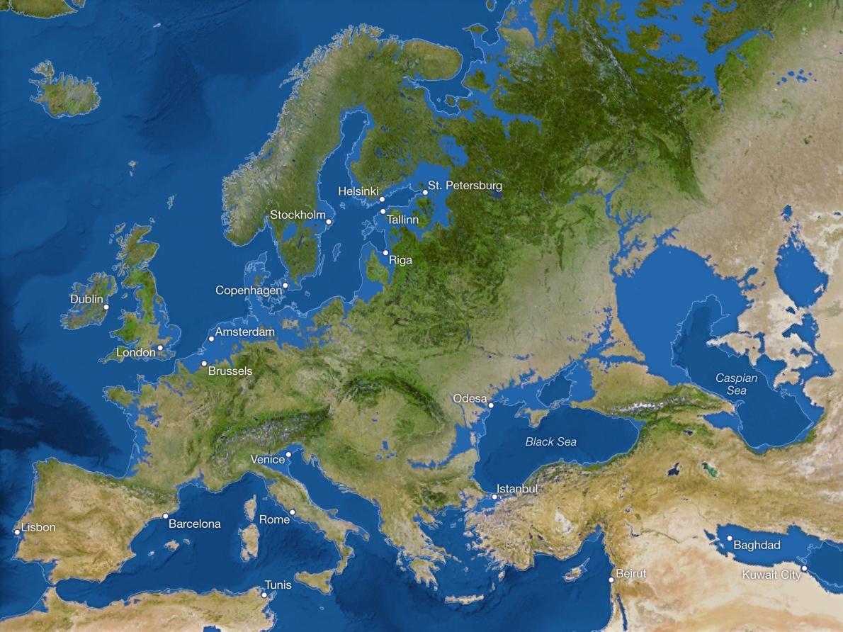Ilyen lesz a Föld a sarkvidéki jégsapkák teljes olvadása után