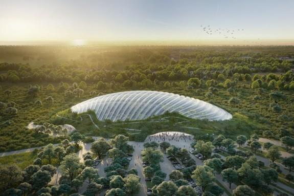 A világ legnagyobb egyetlen kupolából álló trópusi üvegházát tervezik Franciaországban